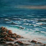 Painting of Rocky Shoreline I