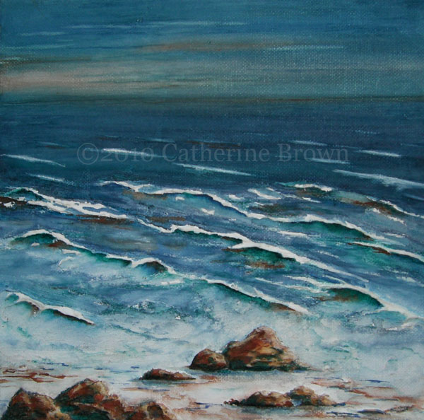 Painting of Rocky Shoreline II