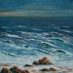 Painting of a Rocky Shoreline